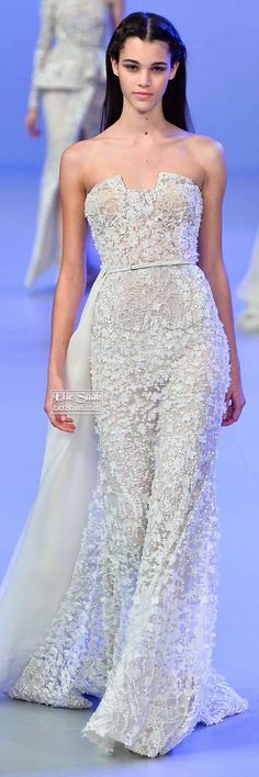 """Elie Saab Spring 2014 Couture Collection (^.^) Thanks, Pinterest Pinners, for stopping by, viewing, re-pinning, & following my boards.  Have a beautiful day! ^..^ and """"Feel free to share on Pinterest ^..^  #women #topfashion #fashionandclothingblog"""