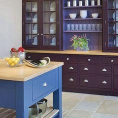 Freestanding kitchen | Painted kitchen ideas | Kitchen decorating | PHOTO GALLERY | Beautiful Kitchens | Housetohome.co.uk