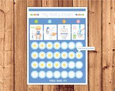 Potty Training Chart / Potty trainin schedule / Toilet