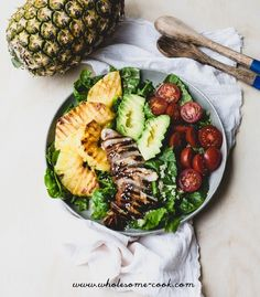 Teriyaki Chicken and Grilled Pineapple Salad + Aussie Pineapples Event This Weekend