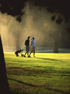 Totally could see us getting old on a golf course (near a beach, of course) -- just have to get her to play more often!