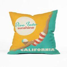 Sunshine Dive Pillow Cover ==