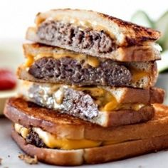 Canadian Burger With Beer-Braised Onions and Cheddar