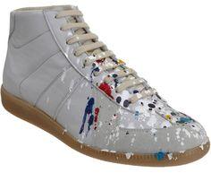 Maison Martin Margiela paint splatter sneakers (high $565).