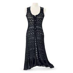 Crochet Midi Vest - Women's Clothing & Symbolic Jewelry – Sexy, Fantasy, Romantic Fashions