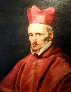 Portrait of cardinal Borgia (Borja),c. 1640,  Diego Velazquez / Портрет на кардинал Борджа, ок. 1640г., Диего Велазкез