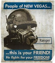 'Fallout NCR propaganda poster' Poster by ABrokeUniKid Fallout Funny, Fallout 3, Video Game Logic, Video Games, Ncr Ranger, Bioshock Cosplay, Gaming Posters, Fallout New Vegas, Armor Concept