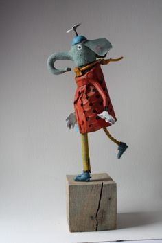 Repurposed Junk Art - Gerald Collas, assemblage, elephant