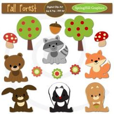 Fall Animals Clip Art