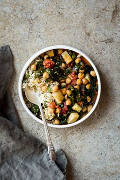 Kohlrabi & Chickpea Curry - Dishing Up the Dirt