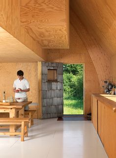 this article made me fall in love with plywood!!   barache residence house portrait kitchen
