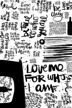 Chorus. (24x36 poster) from TipsyTipsy.  So much inspo for my new obsession -- brush script a'la Kal!
