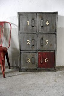 numbered drawers