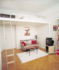 Loft beds for small apartments furniture #interior design #loft beds #small spaces