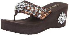 Grazie Women's Riptide Wedge Sandal  ~ Bronze