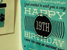 typography vintage birthday wish.....
