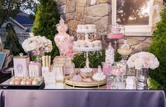 Parisian Candy Stations : wedding candy bar