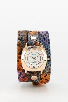La Mer Purple Butterfly Wrap Watch