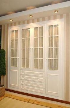Puertas palilleria y cajones, con tela