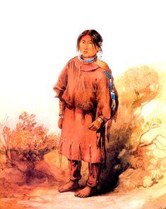 Piegan Blackfeet girl - Karl Bodmer - WikiArt.org - encyclopedia ...