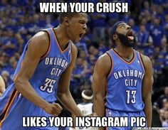 WHEN YOUR CRUSH LIKES YOUR INSTAGRAM PIC -