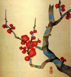 Title:月次花鳥画帖 ニ月 Monthly pictures of birds and flowers, February Artist:鈴木其一 Suzuki Kiitsu
