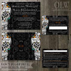 until death do us part wedding invitation sugar skulls printable