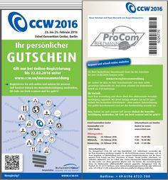CCW 2016 Einladung Gutschein von ProCom-Bestmann