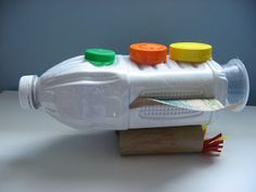 Rocket Craft made from Juice Bottle and Recyclables