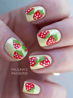 Strawberry Nails by Paulinas Passions