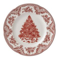 Christmas dishes - 8 place settings.  Johnson Bro. Old Britain Castles.