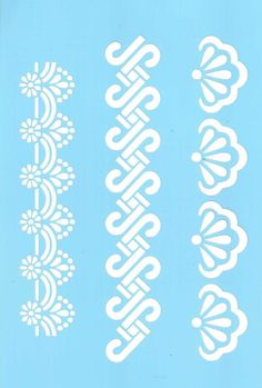 Stencil, Tracy Moreau, Small Borders, 8 x 5 Stencil Patterns, Stencil Designs, Embroidery Patterns, Bordado Jacobean, Kirigami, Stencil Diy, Stenciling, Cross Stitch Borders, Paper Cutting