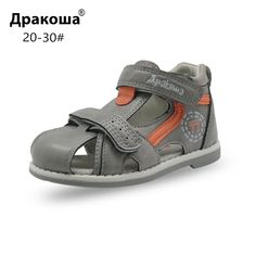 Apakowa Top quality 2017 kids sandals pu leather children shoes breathable  flats toddler boys sandals Summer aca634b925a2