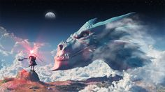 The call for Bahamut by Guile93 on deviantART  Cloud Dragon