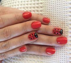 Ladybug nail