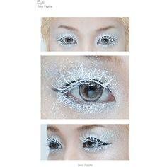 [How to] Glitter and Ice The ice queen ❤ liked on Polyvore featuring eyes