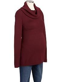 Maternity Cowl-Neck Sweater Tunics