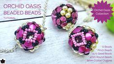 O Beads, Crystal Beads, Seed Beads, Crystals, Beading Patterns Free, Beading Tutorials, Video Tutorials, Beaded Bead, Beaded Earrings
