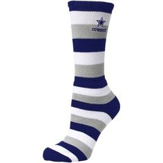 Dallas Cowboys Womens Pro Stripe Socks – Navy Blue