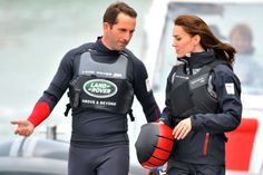 The Duchess of Cambridge and Ben Ainslie Picture: Allan Hutchings