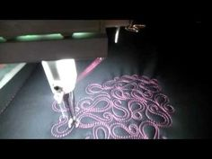 #FMQ201 (Video #37 - Curly Pearl Filler) Longarm Free Motion Quilting Video - YouTube