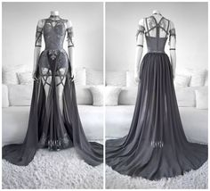 39 Ideas For Sweatshirt Fashion Design Grey Pretty Outfits, Pretty Dresses, Beautiful Dresses, Cool Outfits, Fashion Mode, Fashion Outfits, Vestidos Anime, Fantasy Gowns, Prom Dresses