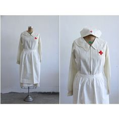 1910s WWI Red Cross Nurse Uniform.