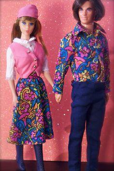 Mod Era Ken and Barbie