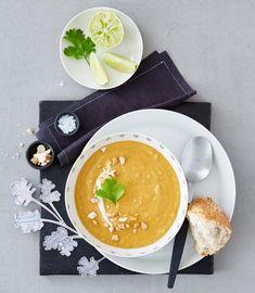 Rezept: Sükartoffelsuppe mit Cashews - [LIVING AT HOME]