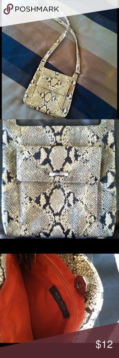 Snakeskin Crossbody Bag Nine West Snakeskin pattern crossbody bag, lightly used, excellent condition. Nine West Bags
