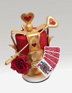 Alice in Wonderland_Queen of Hearts - Ron Ben Israel Cakes Gorgeous Cakes, Pretty Cakes, Cute Cakes, Amazing Cakes, Crazy Cakes, Fancy Cakes, Unique Cakes, Creative Cakes, Ron Ben Israel