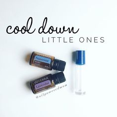 When your little one is too hot, simply apply a drop of Peppermint + a drop of Lavender + 2 drops of Fractionated Coconut oil to the bottoms of their feet and along their spine. Finish with lots of snuggles and story time.  You can make this blend up ahead of time in a roller too - 5-10 drops each in a 10 mL roller, top with FCO. If it's for an infant, start with 1-2 drops each.
