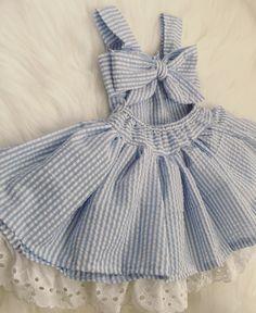 Babygirl seersucker dress. Perfect spring outfit!