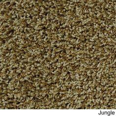 Shaw Uptown Girl Nylon/Polyester Premium Shag Area Rug (9' x 12') (Z6169-338 Jungle), Green, Size 9' x 12'